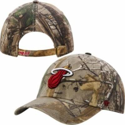 47 フォーティーセブン スポーツ用品  47 Brand Miami Heat Realtree Camo Clean Up Adjustable Hat
