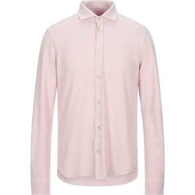 チルコロ1901 CIRCOLO 1901 メンズ シャツ トップス solid color shirt Light pink