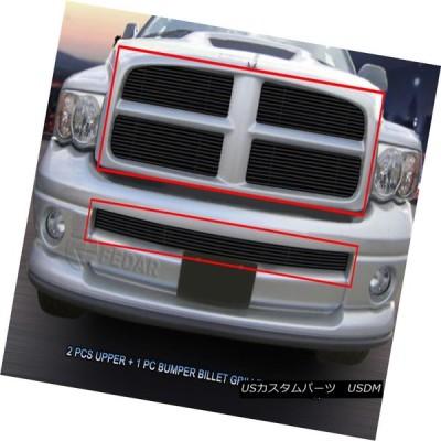 USグリル 02-05ダッジラムスポーツブラックビレットグリルグリルコンボインサート3個入りFedar For 02-05 Dodge Ram Spo