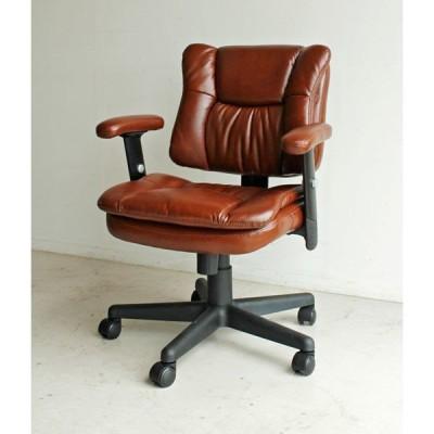 baner オフィスチェアー ブラウン 1台 東馬 (直送品)