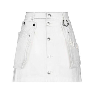 ディーゼル DIESEL ミニスカート ホワイト 23 コットン 100% ミニスカート