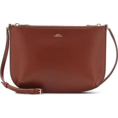 アーペーセー A.P.C. レディース ショルダーバッグ バッグ Sarah leather crossbody bag Cad Noisette