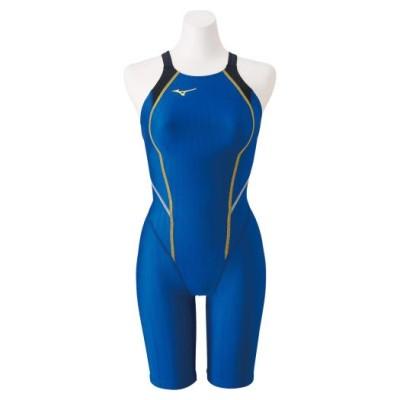 ミズノ 競泳用ハーフスーツ(レースオープンバック)[ジュニア] 27ブルー 130 スイム 競泳水着 STREAM ACE N2MG0420