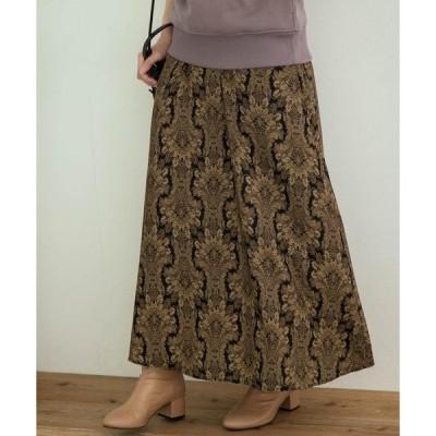 スカート ダマスクプリントスカート