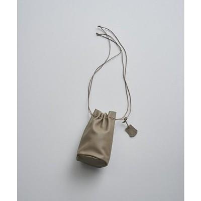 REN | スティル・キャニスターボトル (taupe) | レザー巾着バッグ【送料無料 レン レザー シンプル コンパクト かわいい おしゃれ】