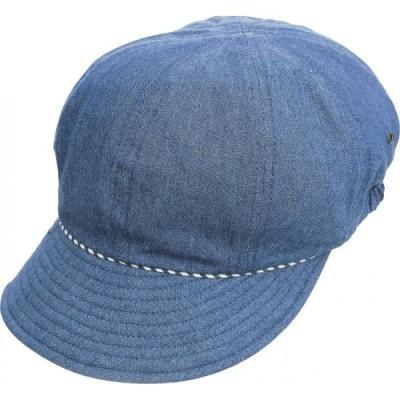 髪型フンワリUVデニムキャスケット ブルー