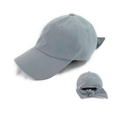 EVS3-021SAX バックリボン 帽子 cap 無地 スウェット コットン 綿麻 女子 アウトドア 紫外線対策 uvケア 春夏 カジュア