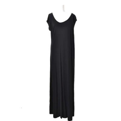 美品 Maison Margiela レーヨン ロング ドレス 40 ブラック メゾン マルジェラ