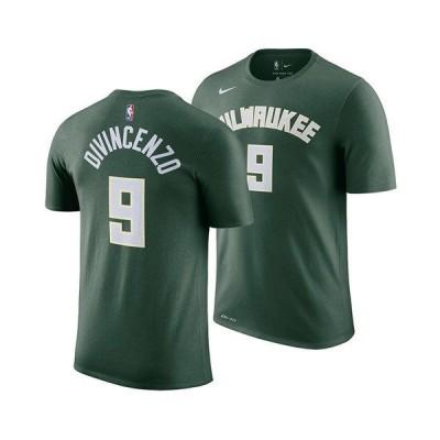 ナイキ Tシャツ トップス メンズ Men's Donte DiVincenzo Milwaukee Bucks Icon Player T-Shirt Green