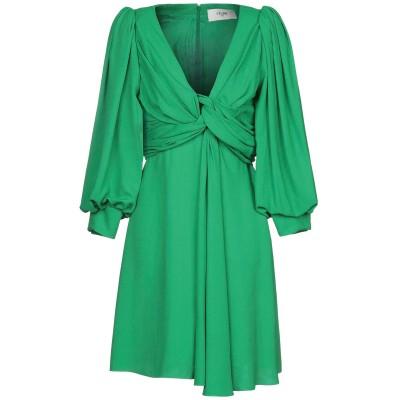 セリーヌ CELINE ミニワンピース&ドレス グリーン 36 シルク 100% ミニワンピース&ドレス