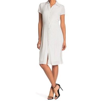 タッシュプラスソフィー レディース ワンピース トップス Printed Button Front Shirt Dress IVY/BK