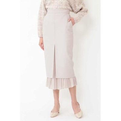 JILLSTUART/ジルスチュアート プリーツミックスタイトスカート BEIGE 2
