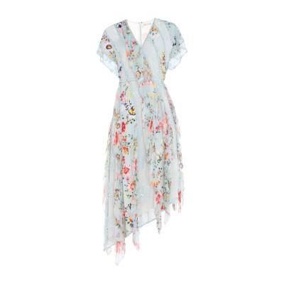 アリス・アンド・オリビア ALICE + OLIVIA 7分丈ワンピース・ドレス スカイブルー 8 シルク 100% 7分丈ワンピース・ドレス