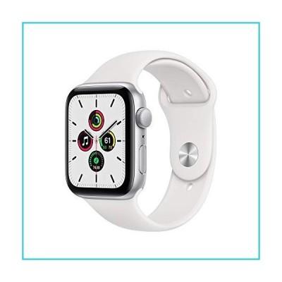 Apple Watch SE (GPS、44mm) - シルバーアルミニウムケース ホワイトスポーツバンド付き