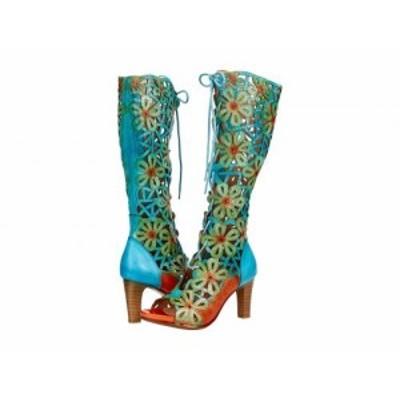 LArtiste by Spring Step ラーティスト レディース 女性用 シューズ 靴 ヒール Fabuflora Turquoise Multi Leather【送料無料】