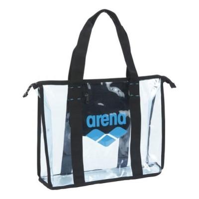 アリーナ PVCトートバッグ 約47×31×11cm ブルー×ターコイズ×ブラック AEAPJA07-BLTQ <2020SSNEW>
