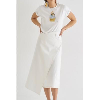 SEA / セルヴィッチリジッドデニムラップスカート WOMEN スカート > デニムスカート