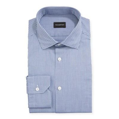 エルメネジルド・ゼニア メンズ シャツ トップス Men's Gingham Check Trim-Fit Sport Shirt