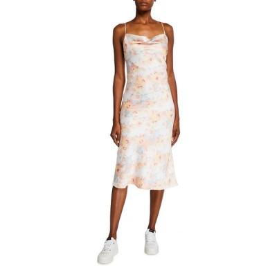 バードット レディース ワンピース トップス Floral Silk Slip Dress