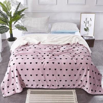 タオルケット ブランケット 柄付き 毛布 ベッドカバー フランネル/シープボア 大きめ 柔らかい お昼寝 冷房対策 寝具 暖かい 150*200cm/200*230cm 11色