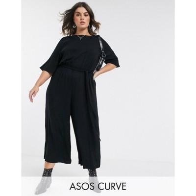 エイソス レディース ワンピース トップス ASOS DESIGN Curve tie waist jumpsuit