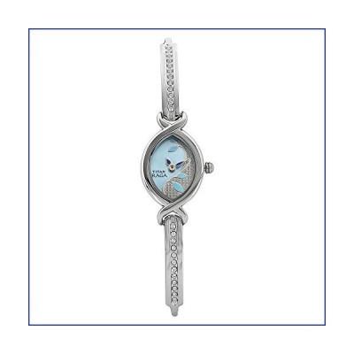 [新品]Titan Ragaゴールド メタル ジュエリーデザイン ブレスレットクラスプ クォーツガラス 防水 アナ