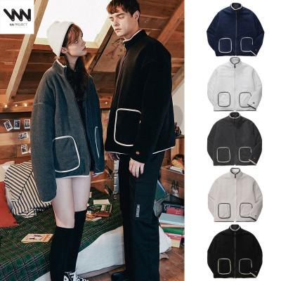[WV PROJECT] Dill line reversible fleece zipup MJOT7296 ダブリューブイプロジェクト ジャケット レディース メンズ 韓国ファッション