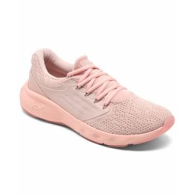 アンダーアーマー レディース スニーカー シューズ Women's Charged Vantage Knit Running Sneakers from Finish Line Particle Pink