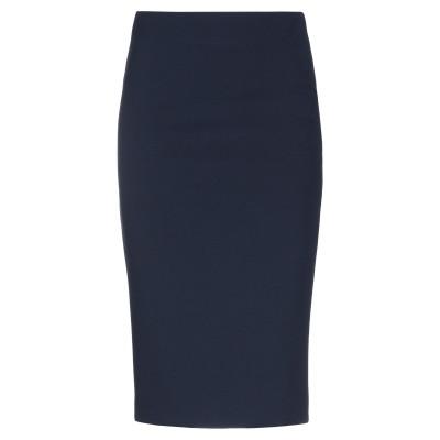 SOALLURE ひざ丈スカート ダークブルー 42 ポリエステル 95% / ポリウレタン 5% ひざ丈スカート