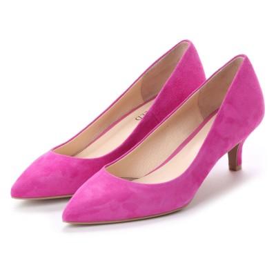 アンタイトル シューズ UNTITLED shoes ポインテッドパンプス (ピンクスエード)