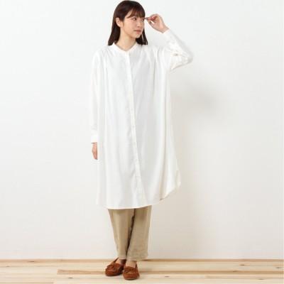 綿レーヨンオックスシャツワンピース【M―4L】(アンベルジュ/embelge)