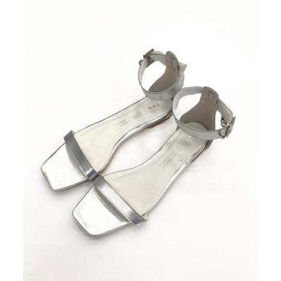 【ICB】  Ankle Belt  サンダル(番号CH57) レディース シルバー系 23.5cm ICB