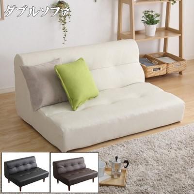 ソファ PVC レザー リビング ダブル アイボリー ブラウン ブラック 2人 掛け 日本製 脚 付き 北欧 シンプル おしゃれ デザイン 人気 椅子 くつろぎ 高級感 部屋