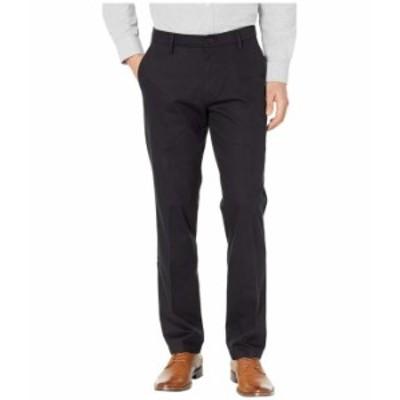 ドッカーズ メンズ カジュアルパンツ ボトムス Straight Fit Signature Khaki Lux Cotton Stretch Pants D2 - Creased Black