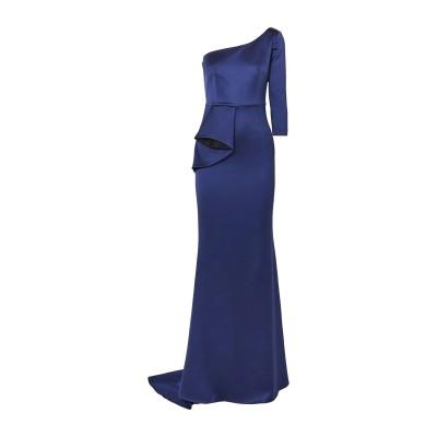 SAFIYAA ロングワンピース&ドレス ダークブルー 34 アセテート 80% / レーヨン 17% / ポリウレタン® 3% / ナイロン ロン