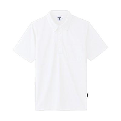 ボンマックス ボタンダウンドライポロシャツ ハニカムメッシュ ホワイト 3Lサイズ MS3119−15−3L 1着 (お取寄せ品)