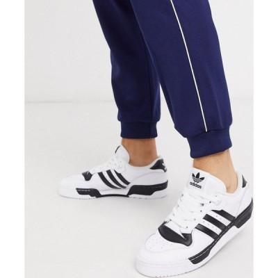 アディダス adidas Originals メンズ スニーカー シューズ・靴 Rivalry low trainers in white ホワイト