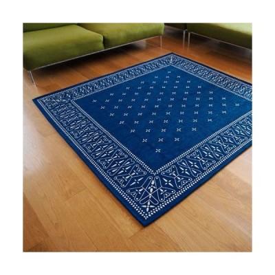 (送料無料) (200×200m) Cross bandanna rug LLsize / クロス バンダナ ラグ LLサイズ (バンダナ ラグ 絨毯 カーペット ホットカーペット 対応 カーペット