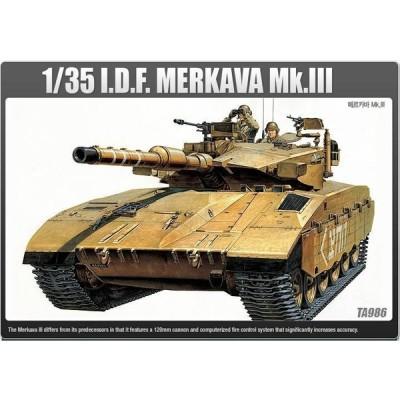 アカデミー 模型 Academy 1/35 IDF Main Battle MERKAVA Mk III Tank Armor Plastic Model Kit 13267
