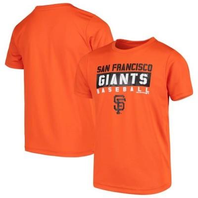 キッズ スポーツリーグ メジャーリーグ Youth Orange San Francisco Giants Basic T-Shirt Tシャツ
