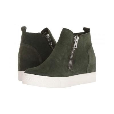 Steve Madden スティーブマデン レディース 女性用 シューズ 靴 スニーカー 運動靴 Wedgie Sneaker - Olive Suede