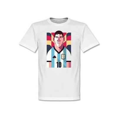 アルゼンチン代表 リオルネ・メッシ Tシャツ SOCCER プレイメーカー ホワイト