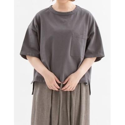 【ノップドゥノッド】 USコットンポケットTシャツ レディース ダーク グレー M nop de nod