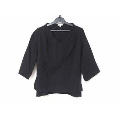 エンフォルド ENFOLD 半袖カットソー サイズ36 S レディース 美品 - 黒 Vネック【中古】20210130