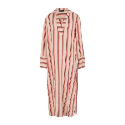 ANTONELLI 7分丈ワンピース・ドレス ベージュ 40 リネン 73% / コットン 27% 7分丈ワンピース・ドレス