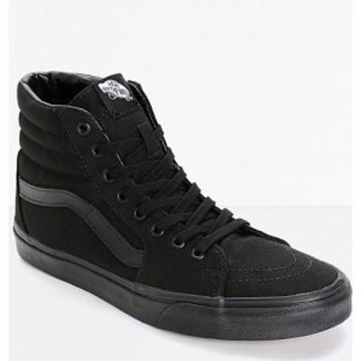 ヴァンズ VANS レディース スケートボード シューズ・靴 Vans Sk8-Hi Mono Black Skate Shoes Black