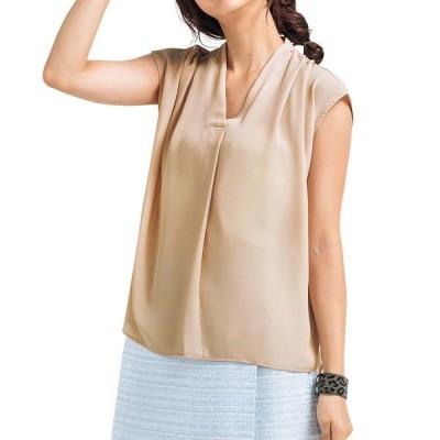 レディース ファッション 夏 トップス 40代 シフォンシャツ フレンチスリーブ Vネック 無地 オフィス 大人 通勤  シンプル 上品 カジュアル トレンド