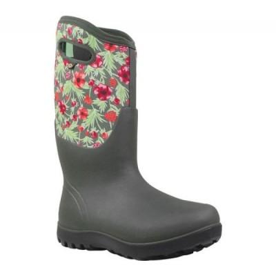 ボグス Bogs レディース ブーツ シューズ・靴 Neo-Classic Tall Boot Dark Green Multi Vine Rubber/Nylon