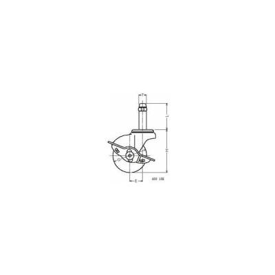 ハンマーキャスター 45015K-UR50 ウレタン