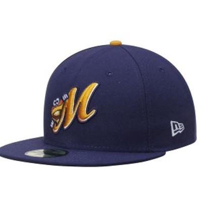 ニューエラ メンズ 帽子 アクセサリー Montgomery Biscuits New Era Authentic Home 59FIFTY Fitted Hat Navy